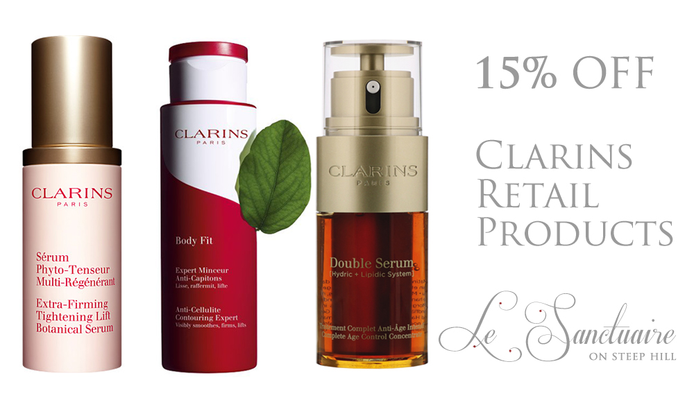 15% OFF Clarins Retail Products!!!