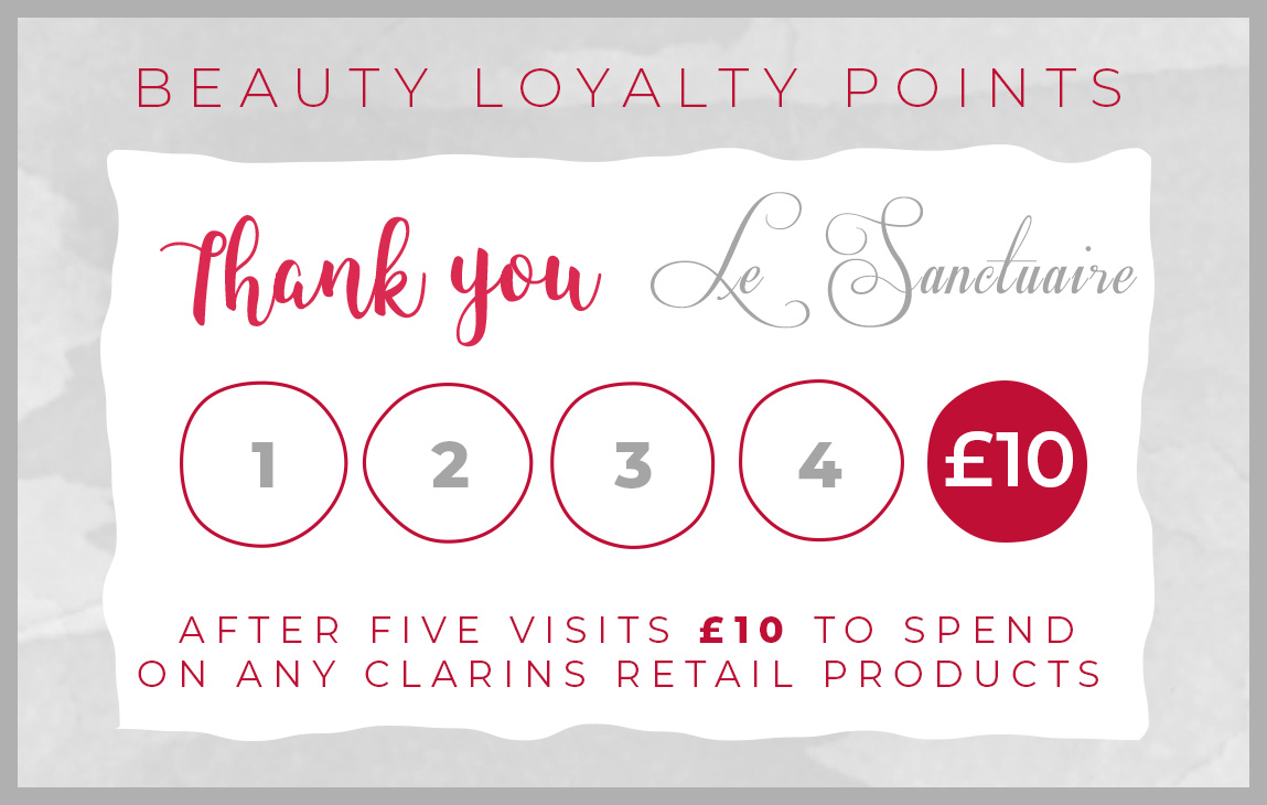 Le Sanctuaire Beauty & Spa Treatment Rewards