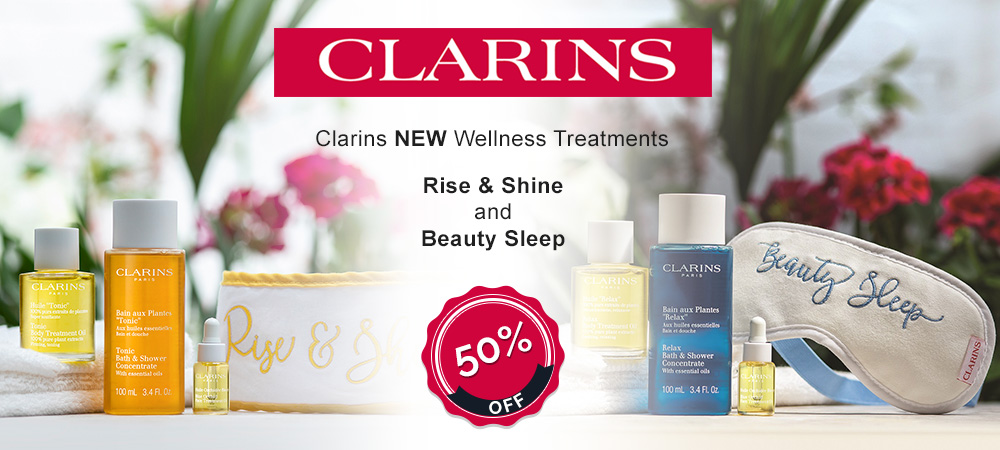 Clarins NEW Wellness Treatments