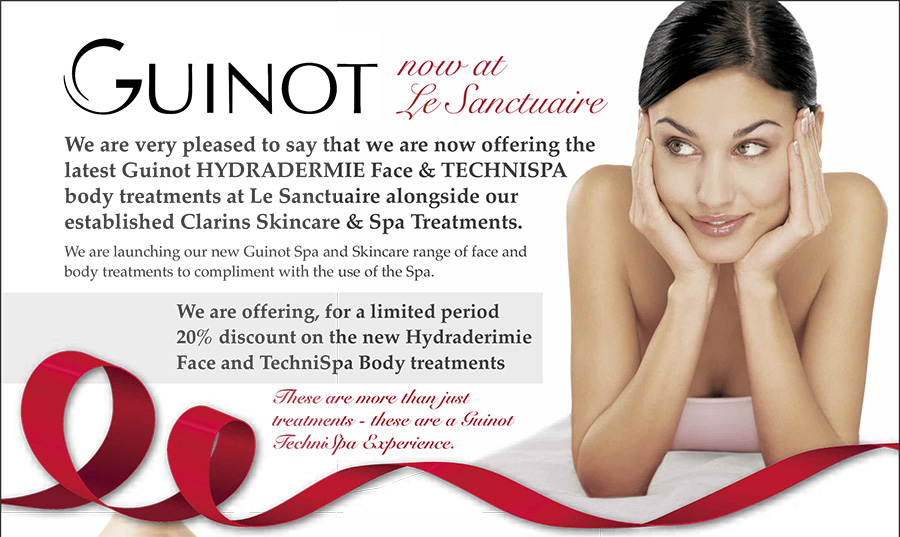 Guinot HYDRADERMIE Face & TECHNISPA body treatments at Le Sanctuaire