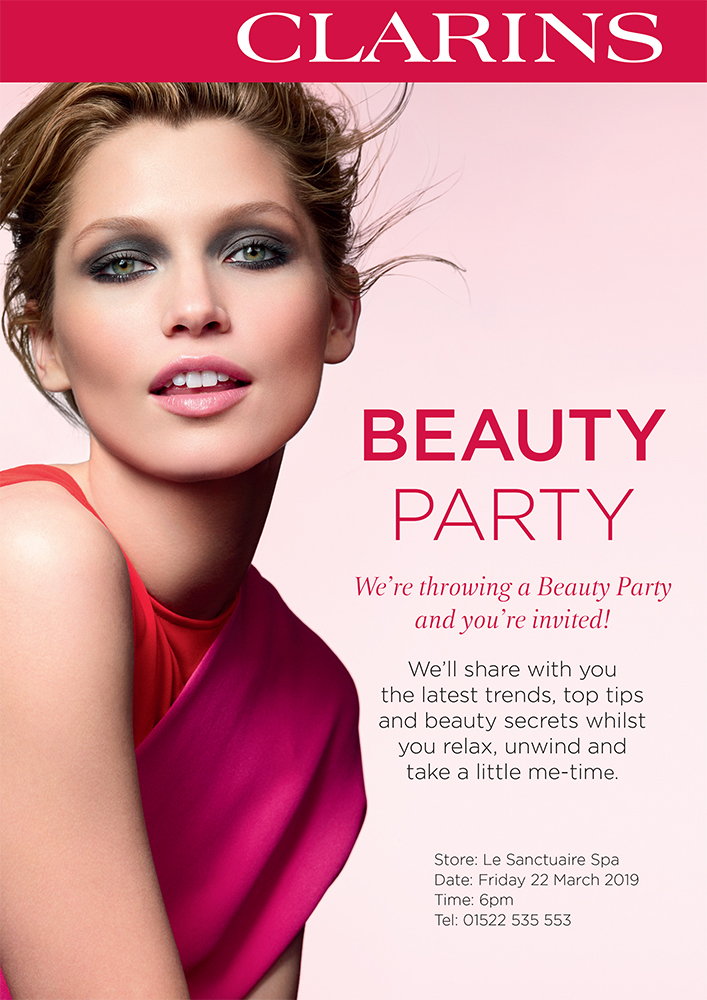 Clarins Beauty Party – Friday 22nd March 2019