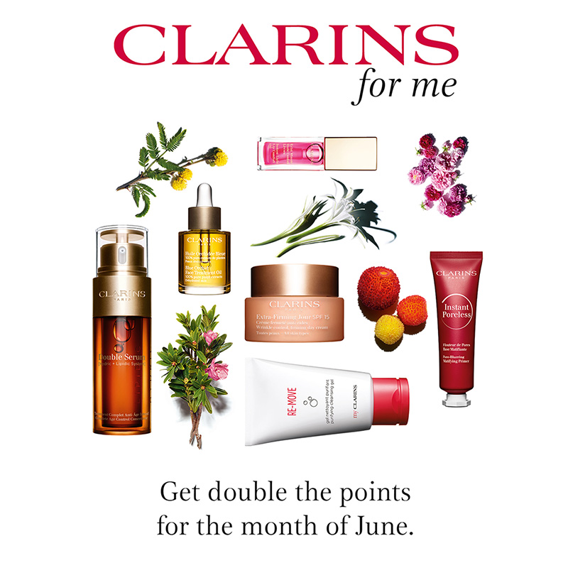 Double Clarins for Me points – Loyalty Reward Scheme