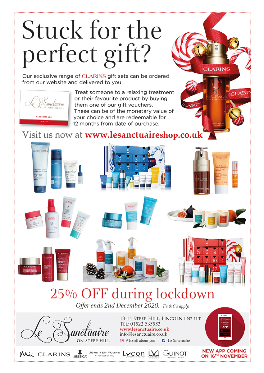 25% off all clarins gift sets