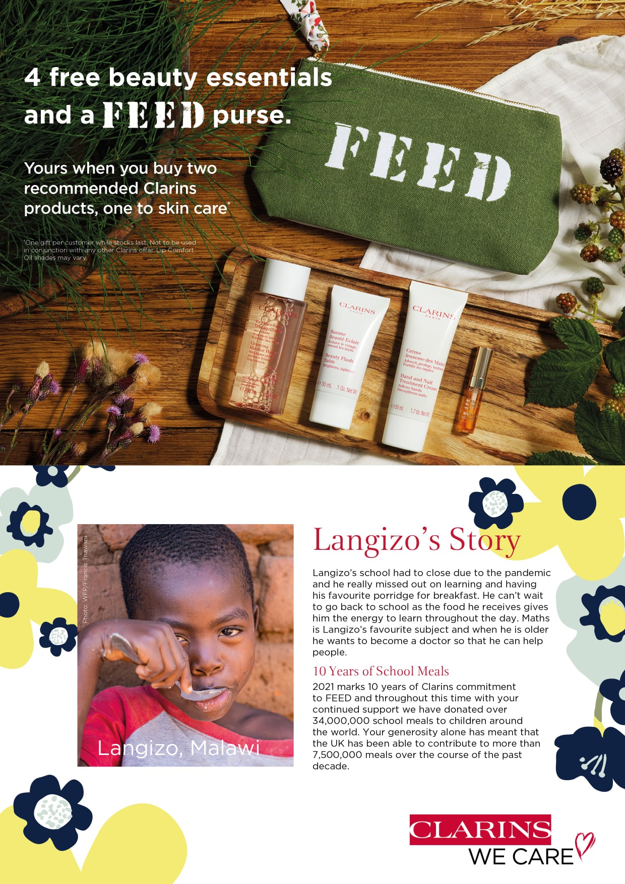 Clarins feed offer